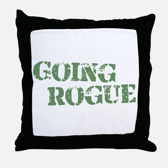Military Going Rogue Throw Pillow