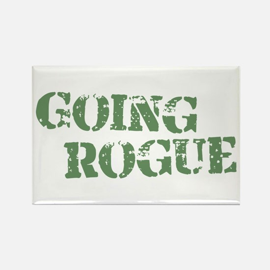Military Going Rogue Rectangle Magnet