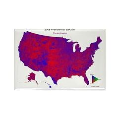 Purple America 2008 Rectangle Magnet (10 pack)