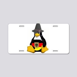 Deutschland Tux Aluminum License Plate