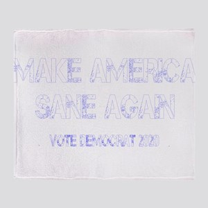 MASA 2020 White Throw Blanket