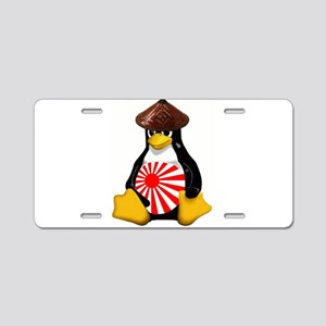 Tux in Japan Aluminum License Plate
