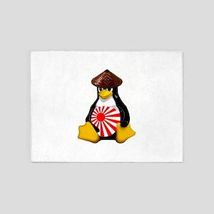 Tux in Japan 5'x7'Area Rug