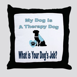 Therapy dog male Throw Pillow