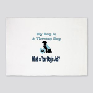 Therapy dog male 5'x7'Area Rug