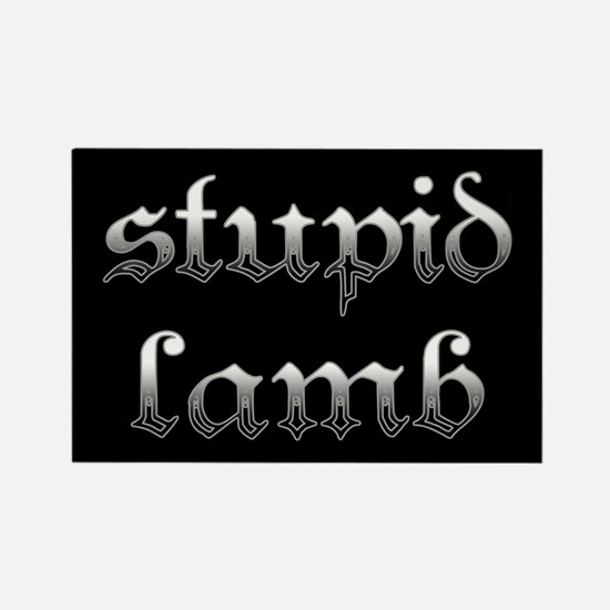 Stupid Lamb Twilight Rectangle Magnet
