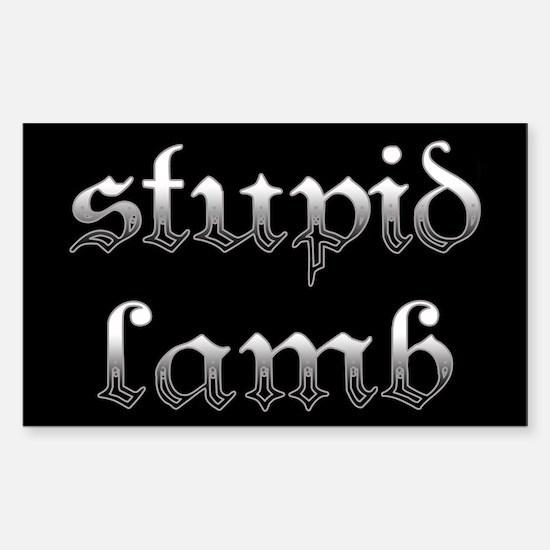 Stupid Lamb Twilight Rectangle Decal