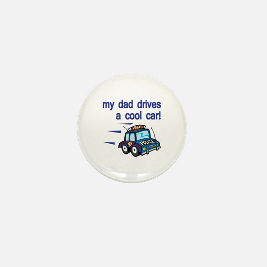 Police Officer's Kids Mini Button