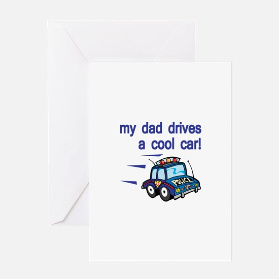 Police Officer's Kids Greeting Card