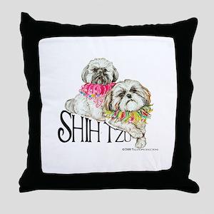 Two Shih Tzu! Throw Pillow