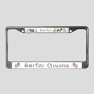 Two Shih Tzu! License Plate Frame