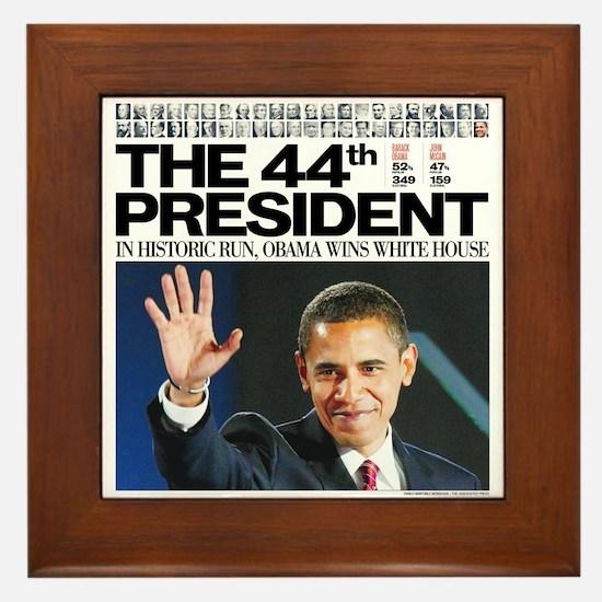 Obama: The 44th President Framed Tile