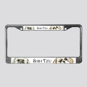 Two Shih Tzu! License Plate Frame