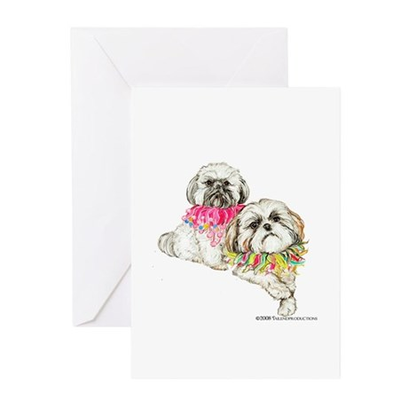 Two Shih Tzu! Greeting Cards (Pk of 10)