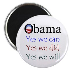 """Obama: Yes we will 2.25"""" Magnet (100 pack)"""