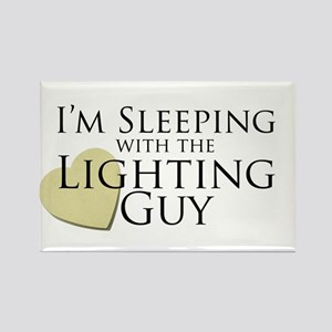 Sleeping with the Lighting Guy Rectangle Magnet