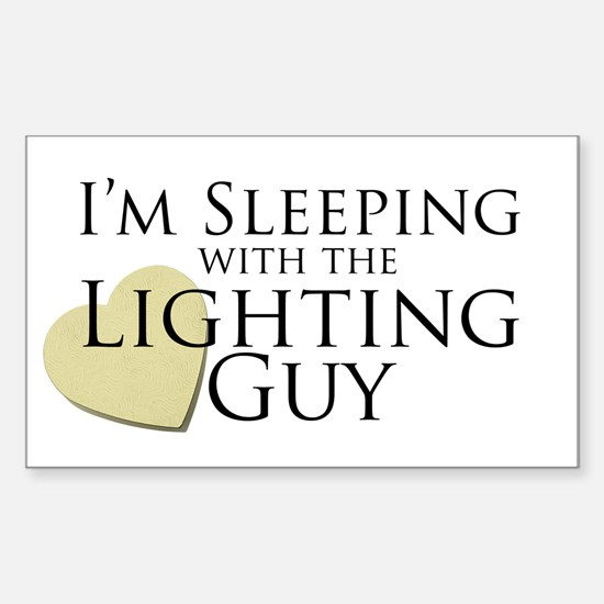 Sleeping with the Lighting Guy Rectangle Decal