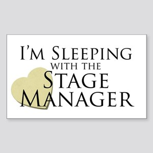 Sleeping with the Stage Manager Sticker (Rectangle