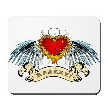 Really? Winged Heart Mousepad