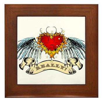 Really? Winged Heart Framed Tile