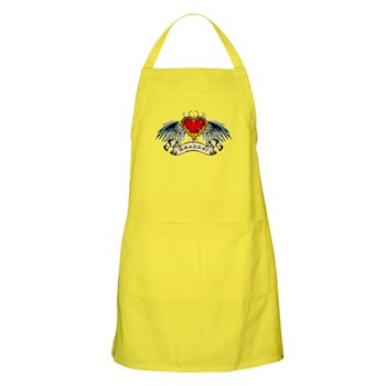 Really? Winged Heart BBQ Apron