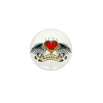 Really? Winged Heart Mini Button