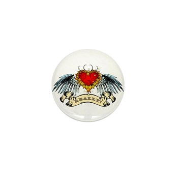 Really? Winged Heart Mini Button (100 pack)