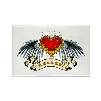 Really? Winged Heart Rectangle Magnet