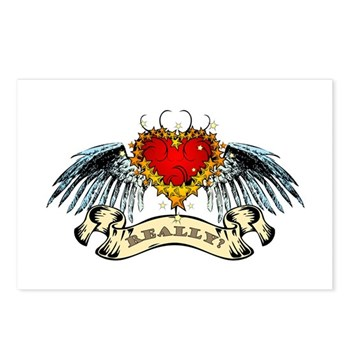 Really? Winged Heart Postcards (Package of 8)