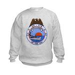 USS HAMNER Kids Sweatshirt
