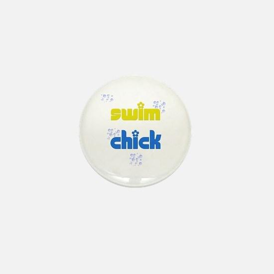 Swim Chick Mini Button