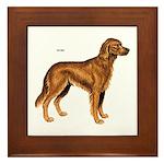Irish Setter Dog Framed Tile