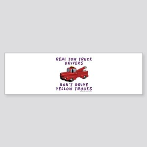 Red Tow Truck Gifts Bumper Sticker