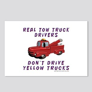Red Tow Truck Gifts Postcards (Package of 8)