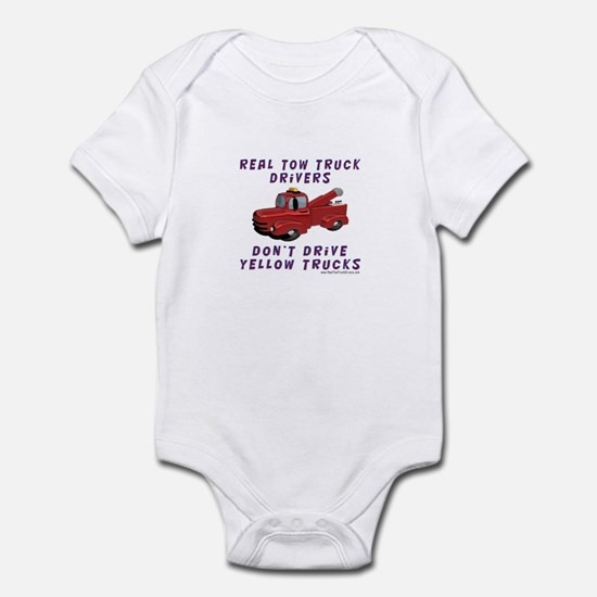 Red Tow Truck Gifts Infant Bodysuit