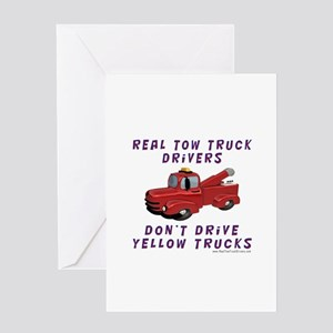 Red Tow Truck Gifts Greeting Card