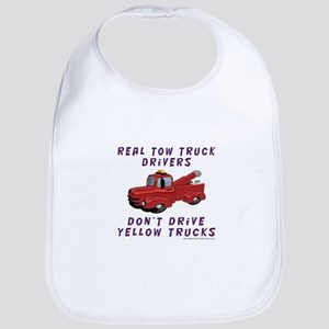 Red Tow Truck Gifts Bib