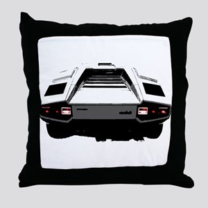 Countach Rear Throw Pillow