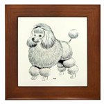 Poodle Dog Framed Tile