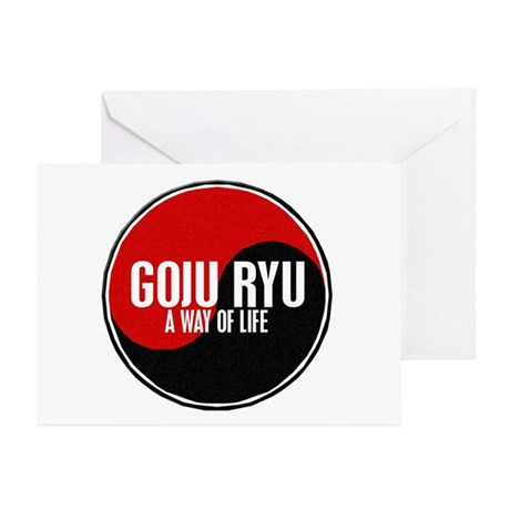 GOJU RYU A Way Of Life Yin Yang Greeting Cards (Pk