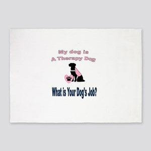 I'm a therapy dog female 5'x7'Area Rug