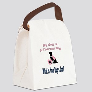 I'm a therapy dog female Canvas Lunch Bag