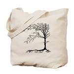 Black Tree Reusable Canvas Tote Bag