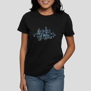 """City Sketch"" Women's Dark T-Shirt"