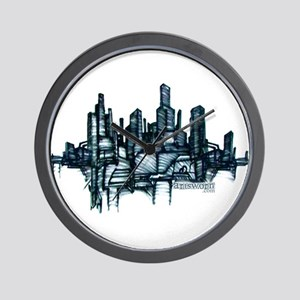 """City Sketch"" Wall Clock"