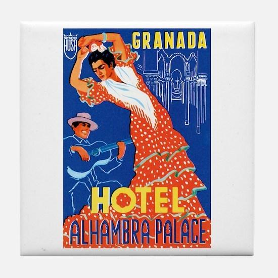 Granada Spain Tile Coaster