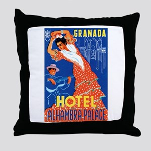 Granada Spain Throw Pillow