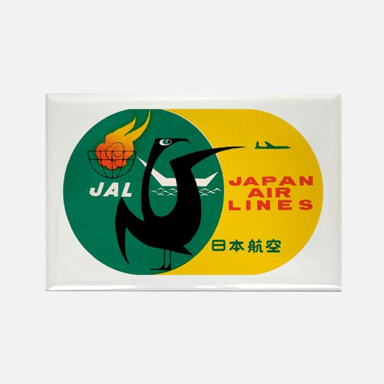 JAL Japan Air Lines Rectangle Magnet