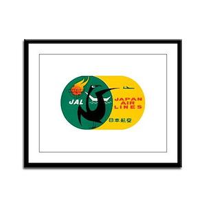 JAL Japan Air Lines Framed Panel Print