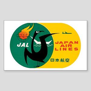 JAL Japan Air Lines Rectangle Sticker